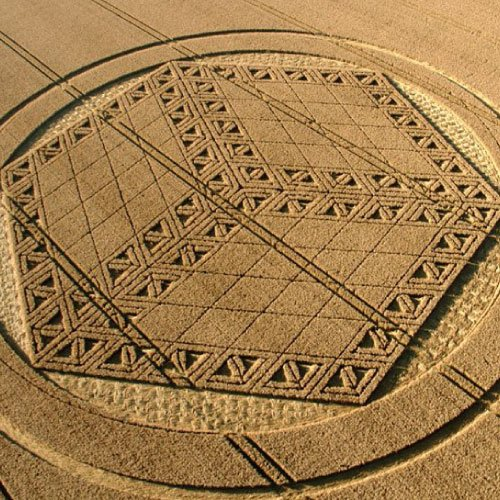 3-D Cube Crop Circle, Wiltshire England - from Patty Greer Films