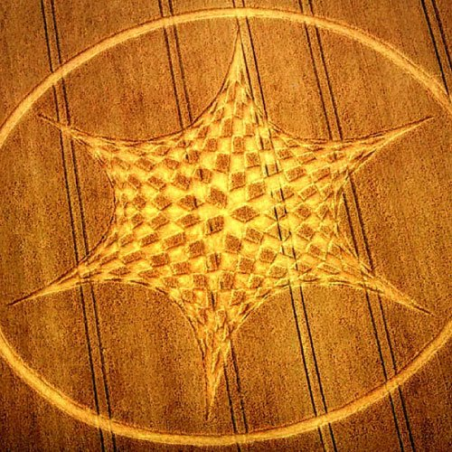 Crop Circle Star - Wiltshire England - from Patty Greer Films