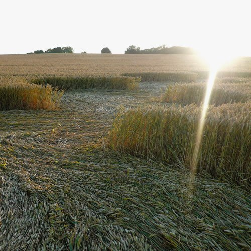 Crop Circle burst of light - Wiltshire England - from Patty Greer Films