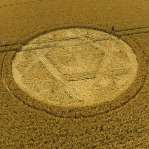 UK Crop Circle Star - Guys Cliff, England - from Patty Greer Films