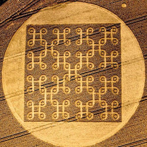 Continuous knot Crop Circle - Wiltshire England UK - from Patty Greer Films