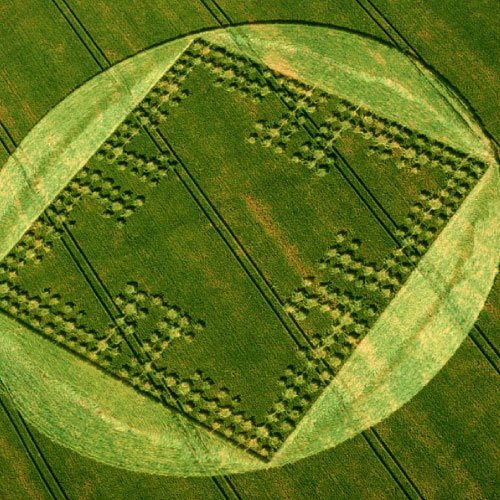 Binary code Crop Circle - Wiltshire England UK - from Patty Greer Films