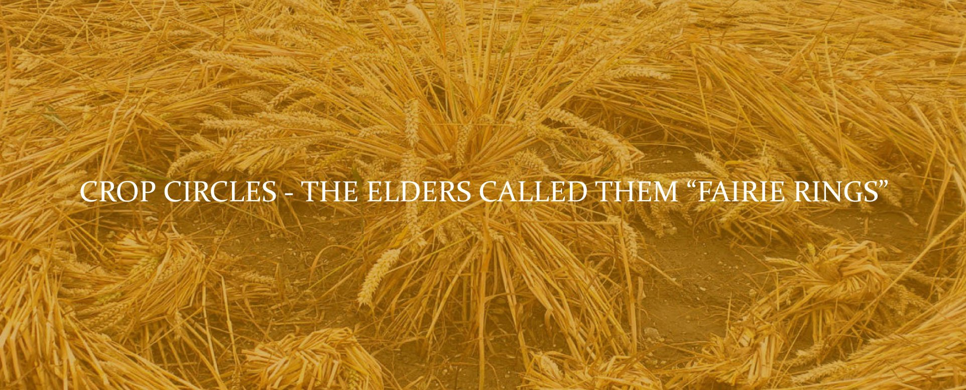 Crop Circles-The Elders Called Them Fairie Rings